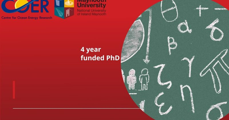 PhD Position (4 year studentship@ €18.5k [tax free] p.a. + fees)