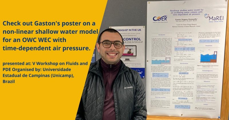 New poster: Nonlinear shallow water model for an oscillating water column with time-dependent air pressure
