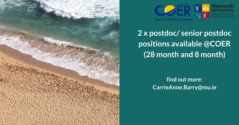 2 x Senior or Post-Doctoral Researcher (1 x 28-month contract, 1 x 8-month contract)