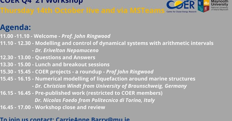 COER Q4 '21 Workshop